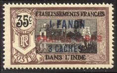 FRENCH INDIA #115 Mint NH - 1941 1fa3ca on 35c Surcharge