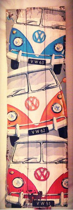 VW Buses (Cool Painting) #RePin by AT Social Media Marketing - Pinterest Marketing Specialists ATSocialMedia.co.uk