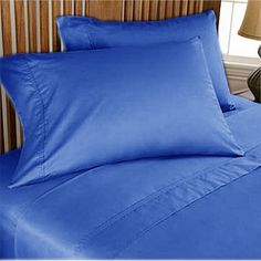 Glorious Bedding Items Extra Deep Pocket Egyptian Blue Stripe 1000TC Select Size