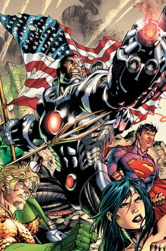 As a part of the DC Comics The New 52 event, comics superstars Geoff Johns and Jim Lee bring you an all-new origin story for the Justice League! Green Arrow, Comic Book Artists, Comic Artist, Aquaman, Geeks, Marvel Dc, Marvel News, Justice League New 52, Les Nations Unies