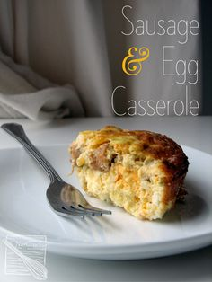 Sausage & Egg Casserole. This breakfast casserole can be made the night before for an easy and delicious start to your morning. Sausage Egg Casserole, Sausage And Egg, Breakfast Casserole, Casserole Recipes, Breakfast Sausages, Paleo Breakfast, Breakfast Recipes, Morning Breakfast, Breakfast Ideas
