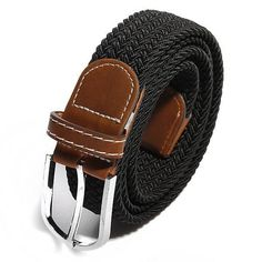 Unisex Men Stretch Braided Elastic Woven Leather Buckle Belt. Belt is available now from our UK warehouse Free shipping to UK in 3-6 business days ship to European countries in 7-10 days in UK warehouse Description:  Material: Rubber Band Faux Leather Color: Black, Brown, Coffee, Deep Khaki, Army Green, Navy, #01, #02, #03, #04, #05, #06, #07 Occasion:  Cusual New, Fashion and Nice Workmanship Easy to fasten,  comfortable to wear! Weight: 135g Details in size: Length(Including Button)…