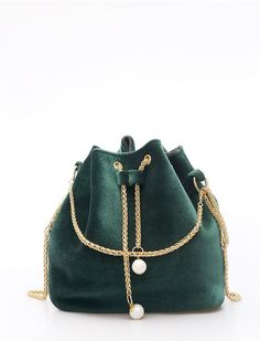 To find out about the Drawstring Bucket Chain Bag at SHEIN, part of our latest Shoulder & Tote Bag ready to shop online today! Luxury Bags, Luxury Handbags, Purses And Handbags, Trendy Handbags, Sacs Design, String Bag, Crossbody Messenger Bag, Purse Styles, Medium Bags
