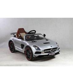 Coche infantil 12V Mercedes SLS plata 12V RC 2.4G
