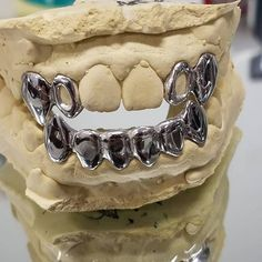 silver grillz special with fangs for Sale in Tampa, FL - OfferUp Gold Fang Grillz, Gold Fangs, Silver Grillz, Gold Teeth, Diamond Cut Grillz, Diamond Cuts, Vampire Grillz, Custom Grillz, Grills Teeth