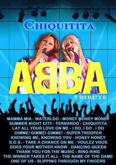 LIVE MUSIC THURSDAY 2nd JUNE - CHIQUITITA PRESENTS ABBA!  Chiquitita are the ABBA tribute duo. Wearing stunning costumes, professional singers Mel & TreeAnna (aka Agnetha & Frida) sing much loved and iconic ABBA Hits. A night not to be missed! Brighton Restaurants, Does Your Mother Know, Super Troopers, Mamma Mia, Night City, Live Events, Summer Nights, Live Music