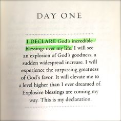 The words you speak set the course for your future. I Declare encourages readers to speak God's promises over their life daily, one for each day of the month. Affirm God's blessings in every area o...