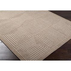 Mystique Area Rug | Brown Solids and Borders Rugs Hand Loomed | Style M64