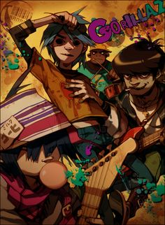 THE GORILLAZ I love this band. (*-*)