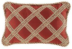 """Austin Horn Collection Silk Pillow with Lattice, 13"""" x 19"""" - traditional - bed pillows and pillowcases - Horchow 138.00"""