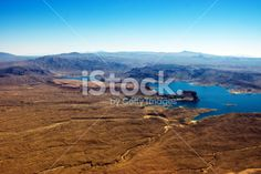 Lake Mead inlets and bays Royalty Free Stock Photo