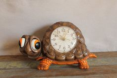 Vintage Turtle Wall Clock by New Haven a Burwood Products Company
