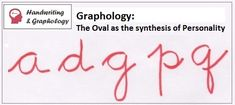 Handwriting Analysis. Letter A and Ovals