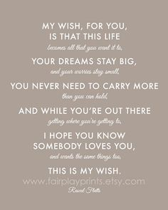 My wish for you...
