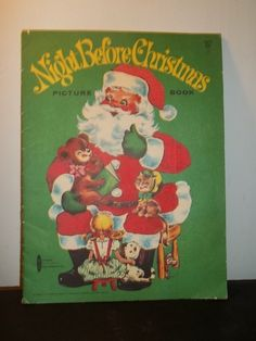 Very Rare Vintage Softcover~ Night Before Christmas Picture Book