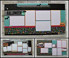 Scrapbooking Kits: Jeepers Creepers 6 Page Scrapbook Kit - $23
