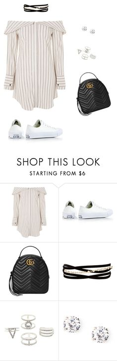 """""""Sem título #134"""" by anacarolinacostanunes on Polyvore featuring moda, Topshop, Converse, Gucci, Kenneth Jay Lane e Charlotte Russe"""