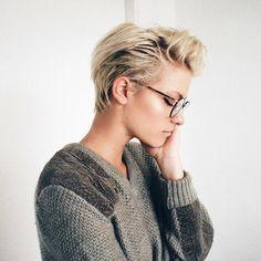 "6,387 Likes, 11 Comments - Short Hair Pixie Cut Boston (@nothingbutpixies) on Instagram: ""@brittenelle looks so cozy.. I wonder what she's thinking.. -@nothingbutpixies"""