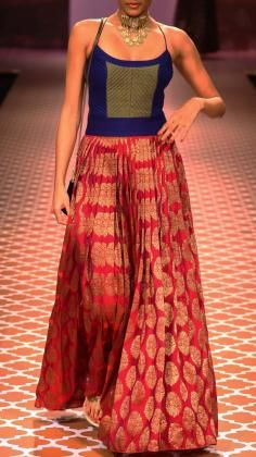 Beautiful Dresses and Tops from Indian Fashion Designer Anita Dongre's Lakme Fashion Week AW12 Collection.