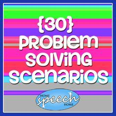 Problem solving scenarios may be easy to find online, but this selection is geared specifically for speech therapy social skills training.