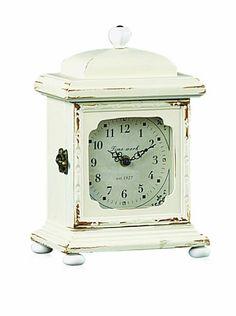Shabby Cottage Chic Desk Clock by Creative Co-op, http://www.amazon.com/dp/B001H08ZEK/ref=cm_sw_r_pi_dp_N1ZHrb1W7AQ5Y
