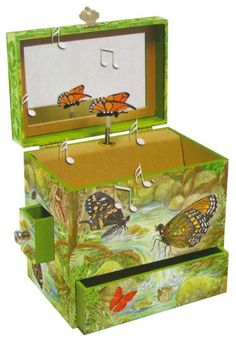 """Musical Jewelry Box - Monarchs Music Box Plays """"Isl of Capri"""" Butterfly Music, Monarch Butterfly, Musical Jewelry Box, Gifts For Him, Musicals, Decorative Boxes, Christmas Gifts, Presents, Toys"""