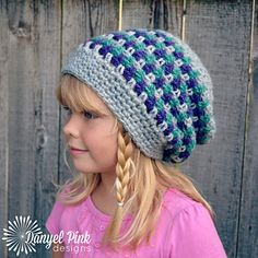 The Seattle Slouch is an easy-to-wear and easy-to-make crocheted hat that can be customized in many ways! Choose your 3 favorite colors & whip one up in an evening. You can make your Seattle Slouch with or without a button tab.