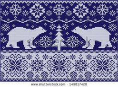 Nordic Pattern-Free | ... ornament with bears - fashionable northern pattern - free download
