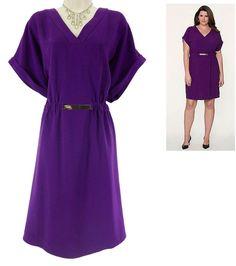 18/20 2X NWT$74.99 SEXY Womens PURPLE KNIT DRESS Lane Bryant Spring PLUS SIZE #LaneBryant #TStyle #Versatile