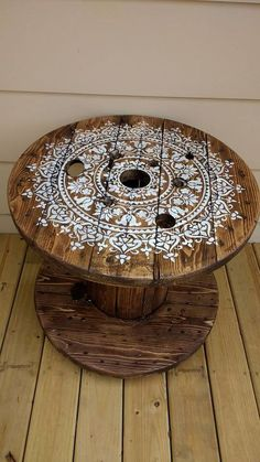 DIY Cable Spool Table for Ummmm. diy cable spool table for ummmm wherever Diy Cable Spool Table, Wood Spool Tables, Cable Reel Table, Wooden Cable Spools, Wire Spool, Cable Spool Ideas, Wooden Cable Reel, Wire Table, Wire Reel