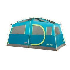 Coleman Tenaya Lake 6-Person Fast Pitch Cabin with Cabinets, Blue