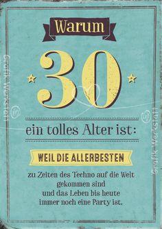 ᐅ Sprüche Zum 30 Geburtstag Herzliche Und Lustige Glückwünsche