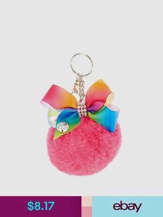 JoJo Siwa Pink Pom Pom with Rainbow Bow Keychain it's really good to put on a jojo siwa backpack. Jojo Siwa Bows, Jojo Bows, Jojo Siwa Outfits, Jojo Siwa Birthday, Claire's Accessories, Rainbow Bow, Dance Moms Girls, Girly, Rhinestone Bow