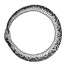 "Tattoo designs for ""Ouroboros in trinity shape."" | Tattoodo."