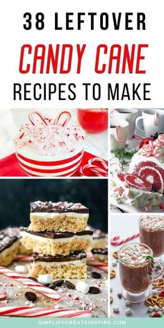 Recipes using candy canes are the perfect way to use up the leftover Christmas candy even after the festive season ends. From sweet desserts with candy canes to delicious drinks, candy cane cookies, candy cane brownies and more that taste like the festive season. These leftover candy cane recipes are perfect for Christmas or after!