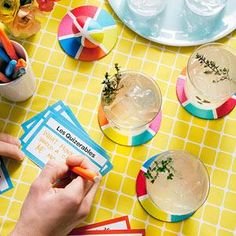 Throwing a trivia party? Make Trivial Pursuit coasters with our easy template!
