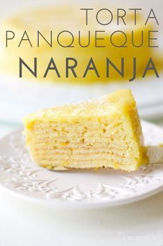 Torta Panqueque Naranja. #enmicocinahoy #tortapanqueque Cheesecakes, Frosting, Food And Drink, Baking, Drinks, Sweet, Home, Homemade Pancakes, Fruit Tartlets