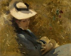 Resting, 1875, John Singer Sargent.