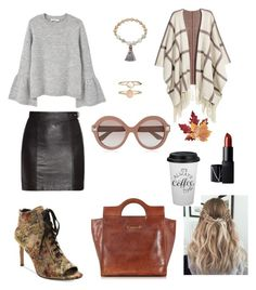 """""""Coffee Morning"""" by paolas91 on Polyvore featuring Nanette Lepore, Accessorize, Pannee, The Bridge, Yves Saint Laurent, MANGO, H&M, Croft & Barrow, Valentino and NARS Cosmetics"""