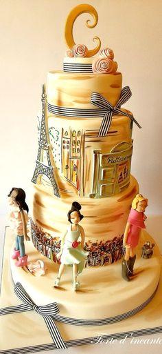 Fashion in Paris Cake