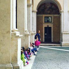 Ogni mattina al Chiostro  #bambini #laboratori #kids #exhibition #MacchiaioliRoma