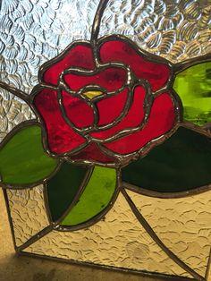 Mi rosa inglesa en vitral