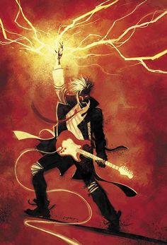 Constantine #19 cover by JUAN FERREYRA.  Rock star.