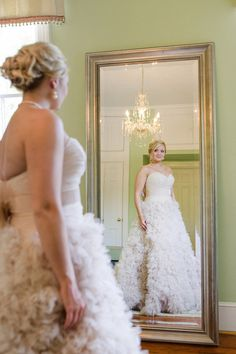 Blush @watterswtoo Palm Springs Wedding Gown at Legare Waring House by Priscilla Thomas Photography