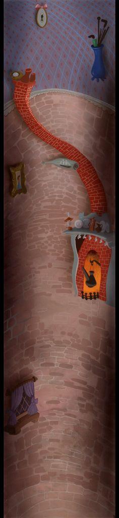 Concept art for Disney's Alice in Wonderland