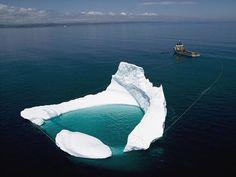 Agua de Iceberg, que se usa para elaborar Vodka de lujo.
