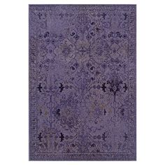 Joss and Main: Woven rug in purple with a distressed Persian motif.  Product: RugConstruction Material: Polypropylene