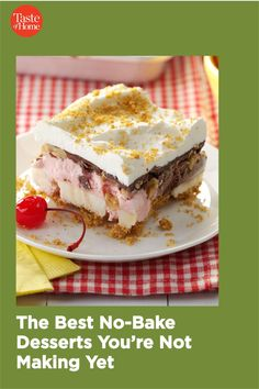 Can't stand the heat? Whip up these no-bake desserts for a truly sweet summer treat. Summer Treats, Summer Desserts, No Bake Desserts, Dessert Recipes, Pineapple Pie, Taste Of Home, Home Recipes, Panna Cotta, Sandwiches