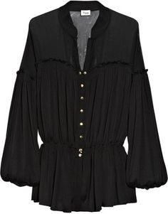 ShopStyle: Temperley London Aquila silk-jersey blouse