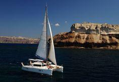 Sailing in caldera 2014